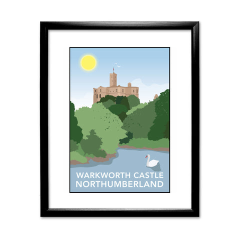 Warkworth Castle, Warkworth 11x14 Framed Print (Black)