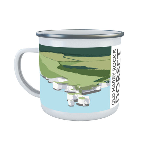 Old Harry Rocks, Dorset Enamel Mug