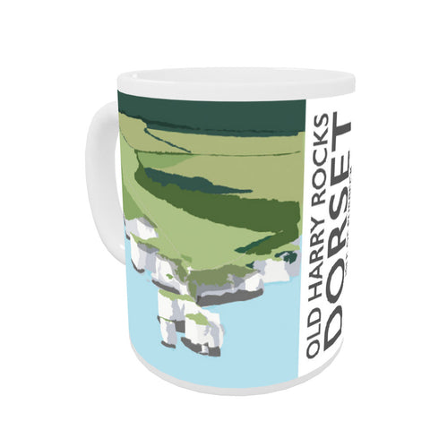 Old Harry Rocks, Dorset Coloured Insert Mug