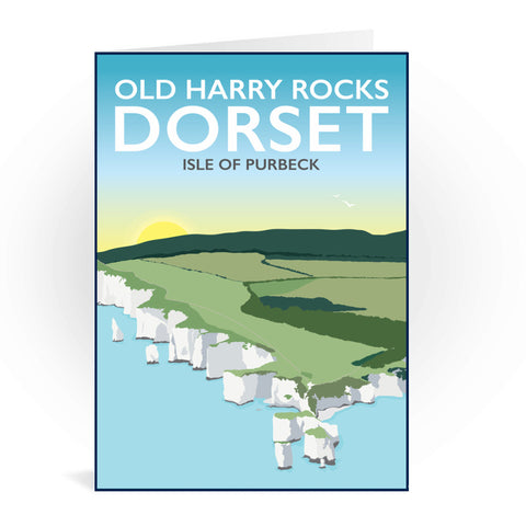 Old Harry Rocks, Dorset Greeting Card 7x5