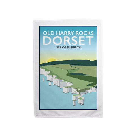 Old Harry Rocks, Dorset Tea Towel