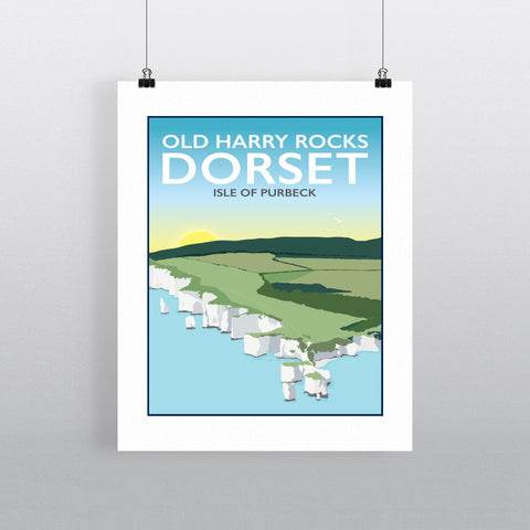 Old Harry Rocks, Dorset 90x120cm Fine Art Print