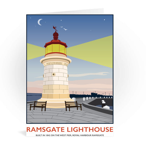 Ramsgate Lighthouse, Ramsgate Greeting Card 7x5