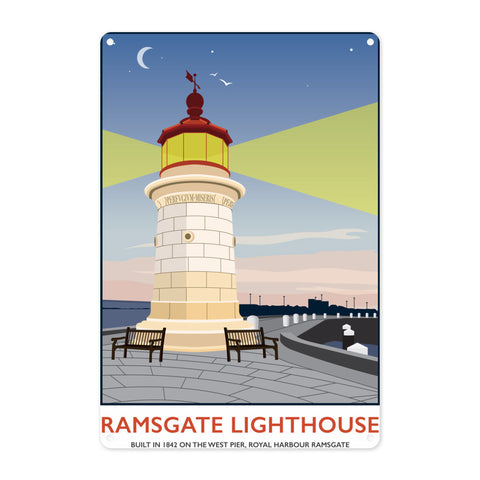 Ramsgate Lighthouse, Ramsgate Metal Sign