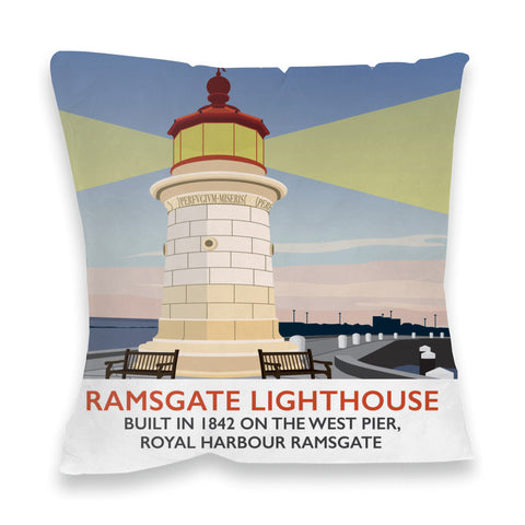 Ramsgate Lighthouse, Ramsgate Fibre Filled Cushion