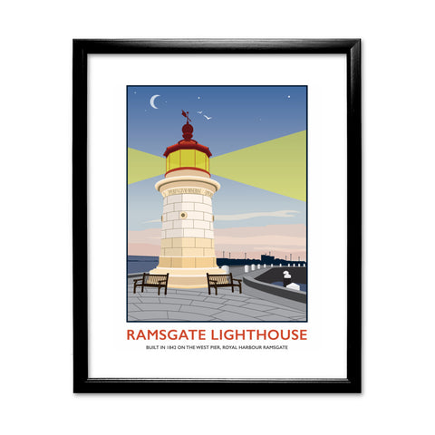 Ramsgate Lighthouse, Ramsgate 11x14 Framed Print (Black)