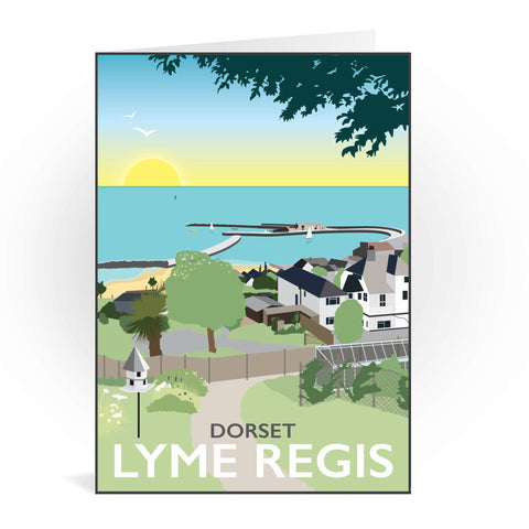 Lyme Regis, Dorset Greeting Card 7x5