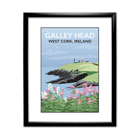 Galley Head, West Cork 11x14 Framed Print (Black)