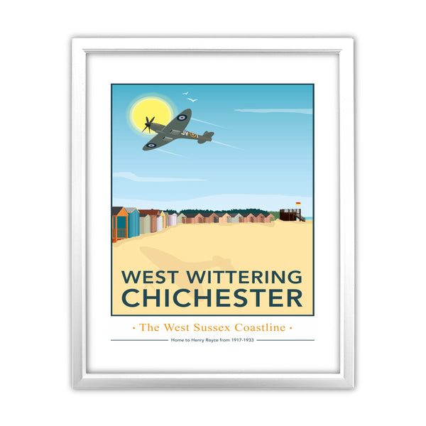 West Wittering, Chichester 11x14 Framed Print (White)