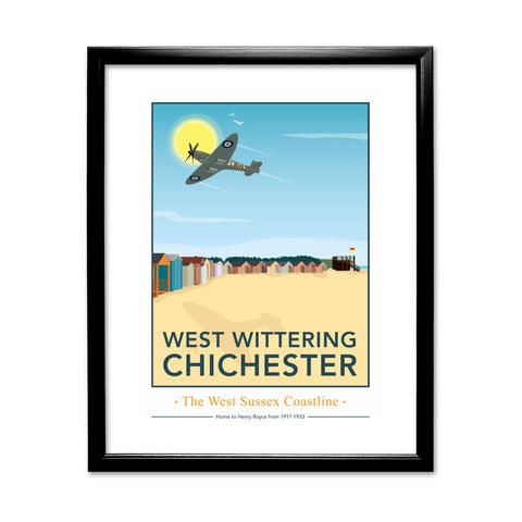 West Wittering, Chichester 11x14 Framed Print (Black)