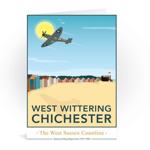 West Wittering, Chichester Greeting Card 7x5