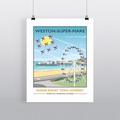 Weston Super Mare, Somerset 90x120cm Fine Art Print