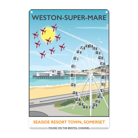 Weston Super Mare, Somerset Metal Sign