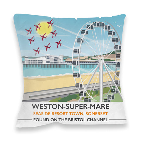 Weston Super Mare, Somerset Fibre Filled Cushion