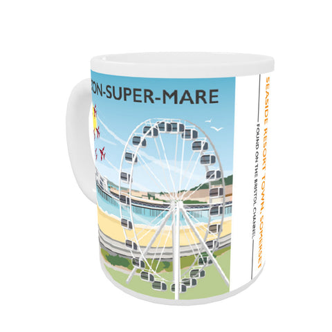 Weston Super Mare, Somerset Coloured Insert Mug