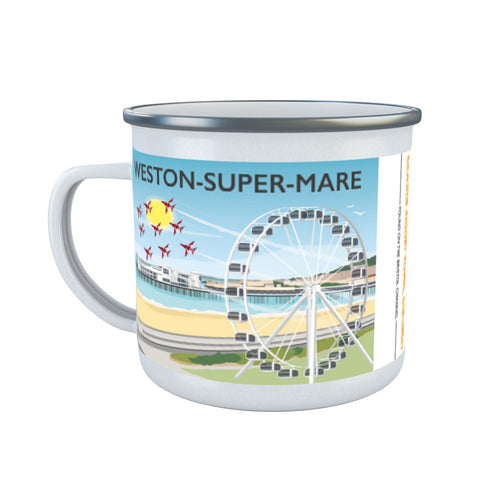 Weston Super Mare, Somerset Enamel Mug