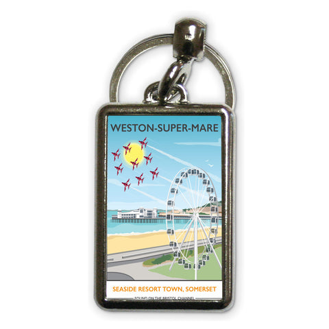 Weston Super Mare, Somerset Metal Keyring