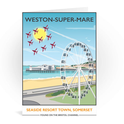 Weston Super Mare, Somerset Greeting Card 7x5