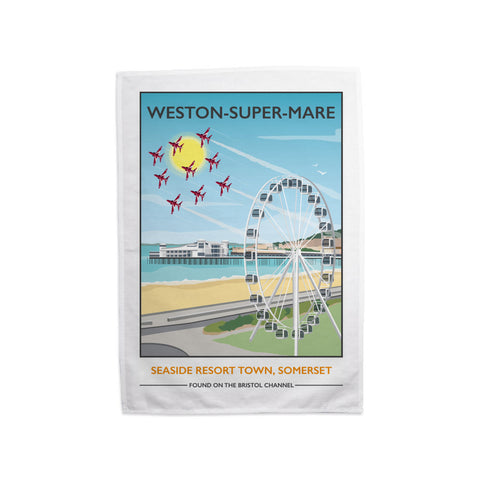 Weston Super Mare, Somerset Tea Towel