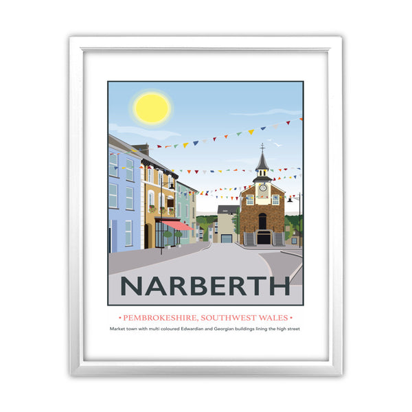 Narberth, Wales 11x14 Framed Print (White)