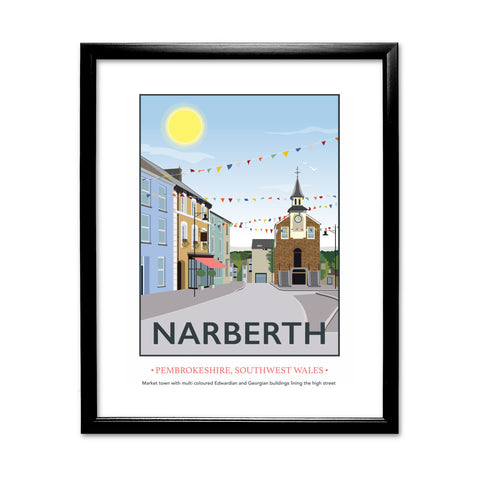 Narberth, Wales 11x14 Framed Print (Black)