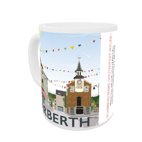 Narberth, Wales Coloured Insert Mug