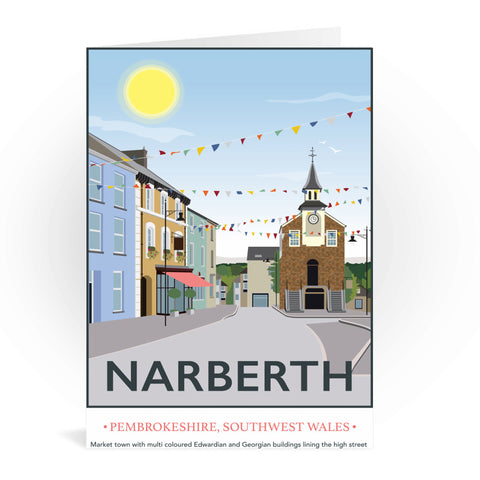 Narberth, Wales Greeting Card 7x5