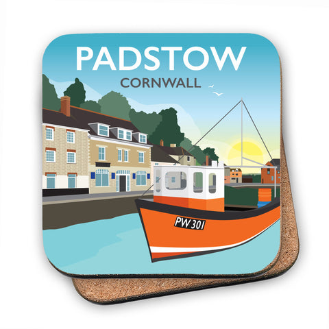 Padstow, Cornwall MDF Coaster