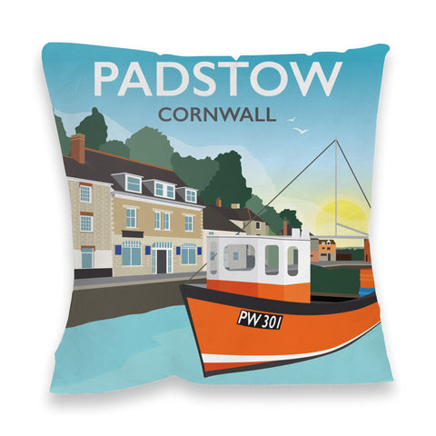 Padstow, Cornwall Fibre Filled Cushion