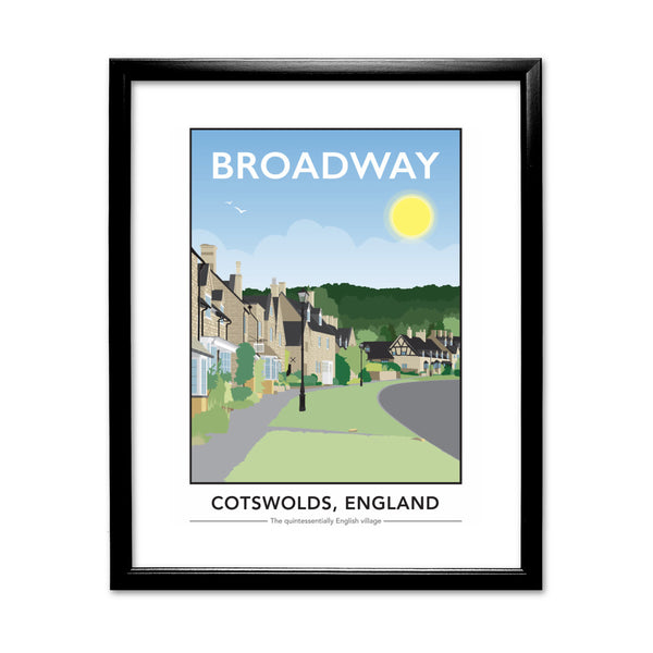 The Cotswolds, 11x14 Framed Print (Black)