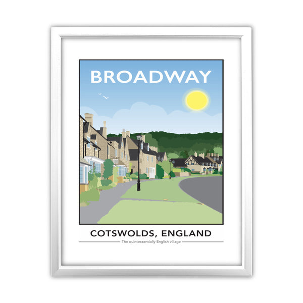 The Cotswolds, 11x14 Framed Print (White)