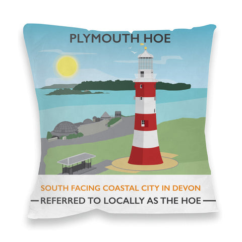Plymouth Hoe, Devon Fibre Filled Cushion