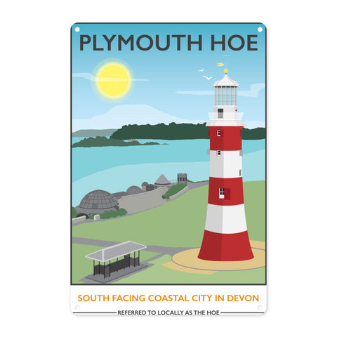 Plymouth Hoe, Devon Metal Sign
