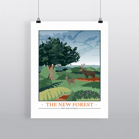The New Forest, Hampshire 90x120cm Fine Art Print