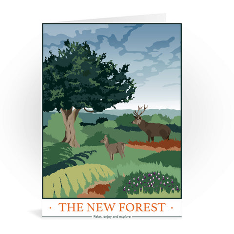 The New Forest, Hampshire Greeting Card 7x5