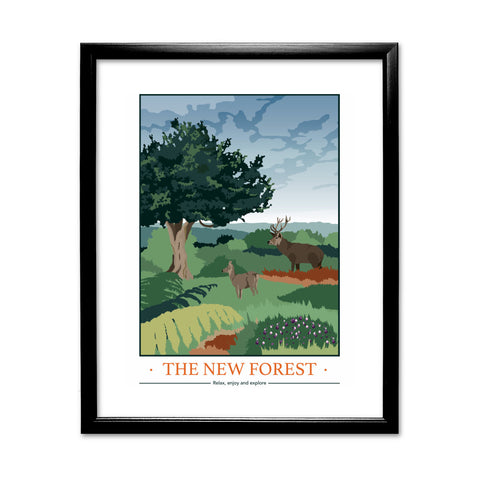 The New Forest, Hampshire 11x14 Framed Print (Black)