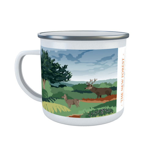 The New Forest, Hampshire Enamel Mug