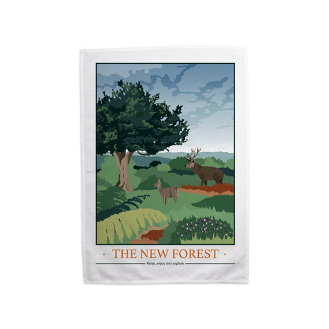 The New Forest, Hampshire Tea Towel
