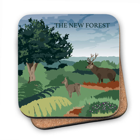 The New Forest, Hampshire MDF Coaster
