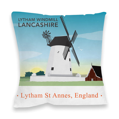 Lytham Windmill, Lytham St Annes, Lancashire Fibre Filled Cushion