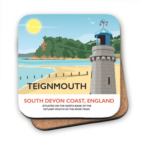 Teignmouth, Devon MDF Coaster