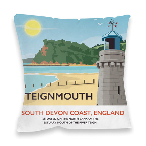Teignmouth, Devon Fibre Filled Cushion