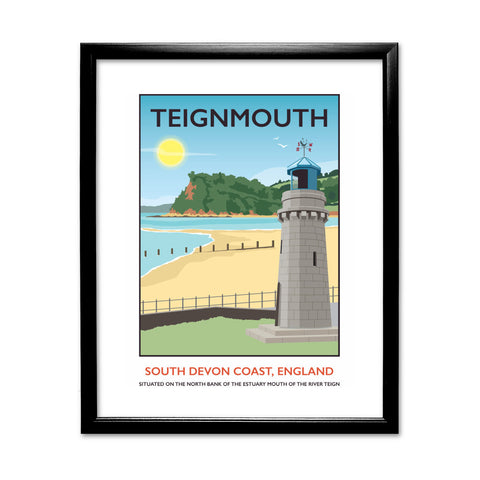 Teignmouth, Devon 11x14 Framed Print (Black)