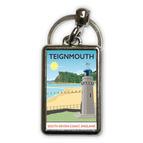 Teignmouth, Devon Metal Keyring