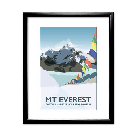 Mount Everest, 11x14 Framed Print (Black)
