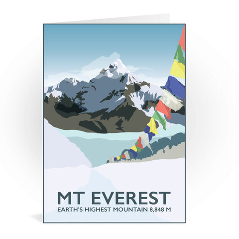Mount Everest, Greeting Card 7x5
