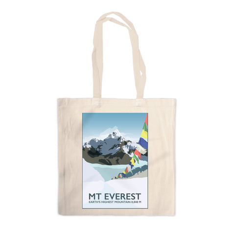 Mount Everest, Canvas Tote Bag