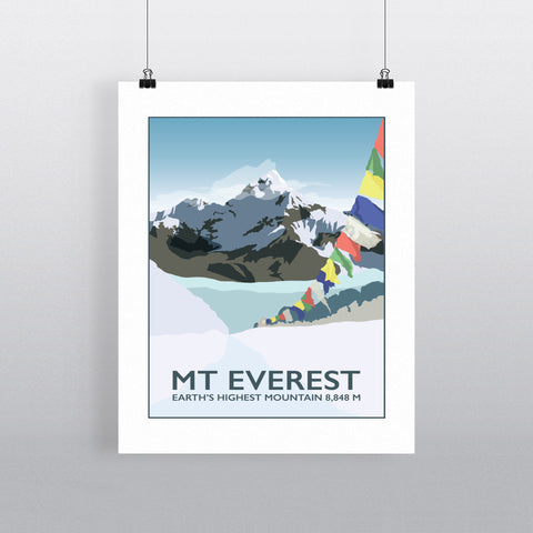 Mount Everest, 90x120cm Fine Art Print