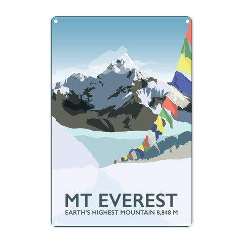 Mount Everest, Metal Sign