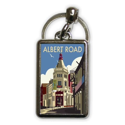 Albert Road, Portsmouth Metal Keyring